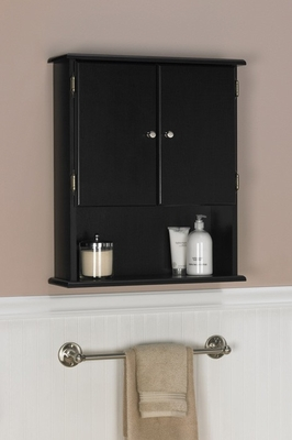 Espresso Bathroom Wall Cabinet Ameriwood Industries 5305045 Bathroom Racks And Cabinets