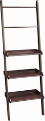 Espresso Ladder Shelf