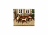 Este 7pc Dining Set with Salma Chairs - American Hertiage - AH-713496