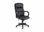 Executive High-Back Chair - Black Leather - HON3301SS11T