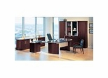 Executive Office Collection in Mahogany - Napoli Collection - Mayline Office Furniture