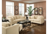 Fabric Sofa Set - 4 Piece in Bella Velvet in Stone Fabric - Coaster