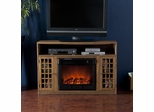 Fairfax Media Weathered Oak Electric Fireplace - Holly and Martin