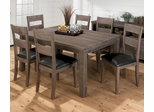 Falmouth Weathered Grey Dining Table and Chair Set - 534-66