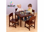 Farmhouse Table and Chair Set in Pecan - KidKraft Furniture - 21451