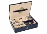 Faux Leather Men's Valet in Black - Carson - Jewelry Boxes by Mele - 0068511M