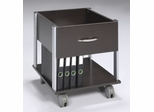 File Cabinet in Espresso with Silver Accents - Office Star - XT30