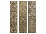 Filligree Pattern Black and White Wall Panels (Set of 3) - IMAX - 12503-3