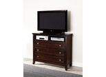 Findley Media Chest in Dark Cherry - 202796
