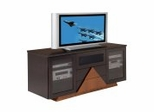 Flat Panel / Flat Screen TV Stand - 64 Inch Contemporary TV Entertainment Console for Plasma/LCD Installations - FT64NH