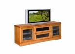Flat Panel / Flat Screen TV Stand - 70 Inch Transitional TV Entertainment Console for Plasma/LCD Installations - FT72TR