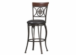 Fleur De Lis Counter Stool - Linon Furniture - 02732MTL-01-KD-U