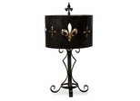 Fleur-de-Lis Cutwork Table Lamp - IMAX - 12441