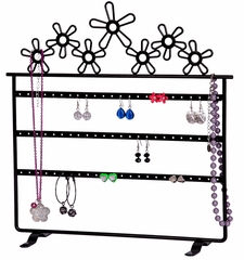 Flora Metal Daisies Jewelry Stand - 11462