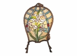 Floral Panel Accent Lamp - Dale Tiffany