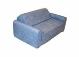 "Foam Furniture Kids Sofa Sleeper Twin 38"" in Distressed Denim - 32-4200-636"