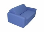 "Foam Furniture Kids Sofa Sleeper Twin 38"" in Royal Blue - 32-4200-607"