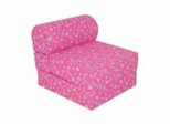 "Foam Furniture Kids Studio Chair Sleeper Jr. Twin 24"" in Pink Flower - 32-4300-824"