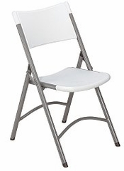 Folding Chair - Lightweight Blow Molded Folding Chair (Set of 4) - National Public Seating - 602