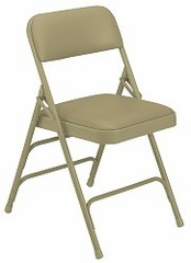 Folding Chair - Triple-Brace Upholstered Folding Chair (Set of 4) - National Public Seating - 1300