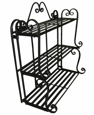 Folding Scroll Triple Wall Shelf - Pangaea Home and Garden Furniture - BT-FR011-K