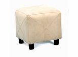 Foot Stool in Taupe Microfiber - Coaster