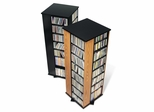 Four Sided Spinning Tower in Oak/Black - Prepac Furniture - OMS-0800