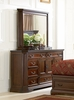 Foxhill Dresser with Mirror in Deep Cherry Brown - Coaster - 201583-84-SET