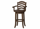 "France Wood Swivel Stool 30"" - Linon Furniture - 01923WAL-01-KD-U"