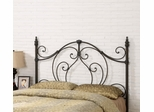 Full/Queen Black / Bronze Metal Headboard - 300189QF