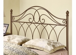 Full/Queen Brown Metal Headboard - 300186QF
