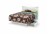 Full/Queen Size Platform Bed with Headboard in Pure White - Step One - South Shore Furniture - 3160217-270
