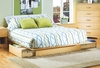 Full / Queen Size Storage Platform Bed in Natural Maple - South Shore Furniture - 3013217