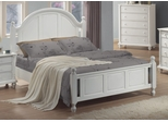 Full Size Bed - Kayla Full Size Bed in White - Coaster - 201181F