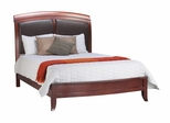 Full Size Sleigh Low Profile Bed with Leather Headboard - Brighton - Modus Furniture - BR15L4