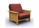 Futon Chair Frame - Cottage Grove Jr. Twin Chair in Golden Oak - 35-5902-002