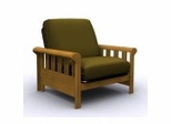 Futon Chair Frame - Renaissance Jr. Twin Chair in Medium Oak - 35-2102-008