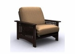 Futon Chair Frame - Rhodes Jr. Twin Chair Metal Wood Espresso - 35-7002-004