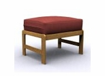 Futon Chair Ottoman Frame - Jr. Twin Ottoman in Golden Oak - 38-4000-002