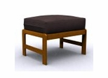 Futon Chair Ottoman Frame - Jr. Twin Ottoman in Honey Oak - 38-4000-010