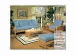 Futon Furniture Set in Golden Oak - Santa Barbara - FSET-11