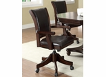 Game Chair with Casters in Dark Mahogany - 100883