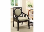 Geometric Styled Accent Chair with Circle Motifs - 902097