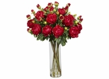 Giant Peony Silk Flower Arrangement - Nearly Natural - 1231-RD