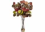 Giant Sea Grape Leaf with Cylinder Silk Plant - Nearly Natural - 6698