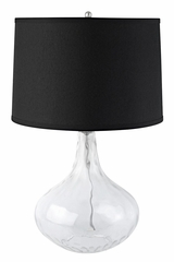 Glass Table Lamp with Black Shade - 901430