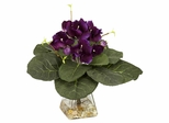 Gloxina with Vase Silk Plant - Nearly Natural - 6689
