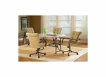 Golden Bronze Harbour Point 5Pc Octagon Dining Set With Caster Chair - Hillsdale