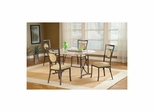 Golden Bronze Harbour Point 5Pc Octagon Dining Set With Metal Oval Chair - Hillsdale