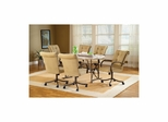 Golden Bronze Harbour Point 7Pc Octagon Dining Set With Caster Chair - Hillsdale